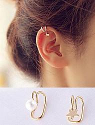 Pentagram No Holes Pearl Clips Earring