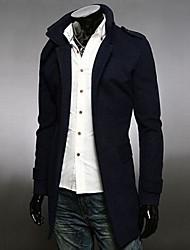 Outono e inverno emblemas dos homens de lã casaco breasted único