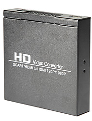Scart / HDMI to HDMI 720P 1080P HD Video Converter Monitor Box For HDTV DVD STB