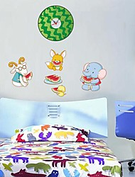 Wall Clock Stickers Wall Decals, Watermelon and Battery Feature Removable  PVC Wall Stickers