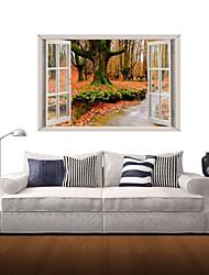 Adesivos de parede adesivos de parede 3d, folhas de outono de parede decoração adesivos de vinil