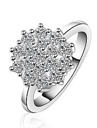 Lemon Women's 925 Silver Plated Top Selling Luxury Diamond Ring
