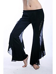 Belly Dance Tribal Style Side Slit Performance Gauze Pants