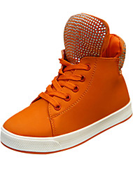 Sneakers Tendance ( Bleu/Orange ) - Cuir - Confort