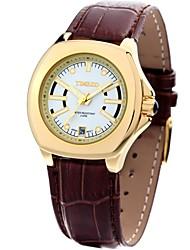 Time100 Female Luxury Elegant Intellectual PU Band Round Case Ladies' Quartz Bracelet Watches (Assorted Colors)