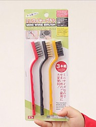 3 Pieces Multifunctional Cleaning Brush,Plastic 17×1×3.5 CM(6.7×0.4×1.4 INCH) Random Color