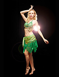 Dancewear Chiffon with 128 Coins Belly Dance Outfit For Ladies