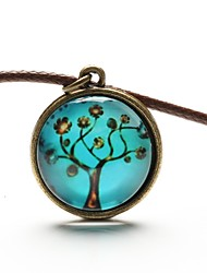 Women's Pendant Necklaces Gemstone Leather Resin Fashion Blue Jewelry Daily Casual Sports 1pc