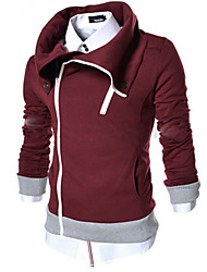 Playgame Men's Casual Wide Lapel Neck Hoodie
