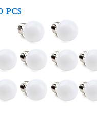 1W E26/E27 Lâmpada Redonda LED 12 SMD 3528 30 lm Branco Quente / Branco Frio AC 220-240 V 10 pçs