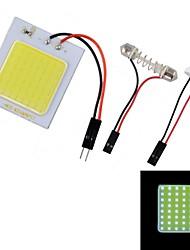 4W 450lm 48-LED T10 White Light Car Roof Light - (12V)
