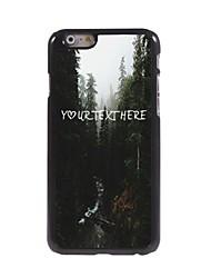 personalizzato cassa del telefono - fiume e il design albero cassa del metallo per iPhone 6