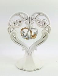 topper gâteau d'anneau en forme de coeur