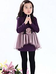 fille de Rose motif simulacres deux pièces robe à manches longues