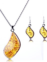 Women's Fashion Irregular Pendant Jewelry Sets Including Necklace&Earring