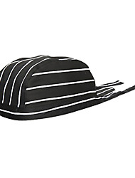 полосы тюрбан шеф-повар шляпа