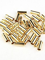 neewer® позолоченные 5,5 мм пуля банан штекер для R / C Батарея золотых 20 пар