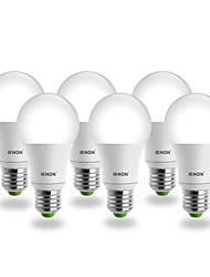 IENON® 6pcs E26/E27 LED Globe Bulbs A60(A19) COB 560-630 lm Warm White AC 100-240 V