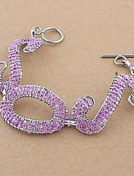 Fashion Woven Copper Glass Tube SOS Bracelets Random Color