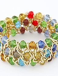 mix de moda e combinar temperamento selvagem lindo cristal pulseira trecho