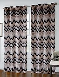 (Dos paneles) línea quebrada modelo de la cortina de color oscuro
