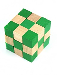 Green Square Wooden Educational Unlock Toys