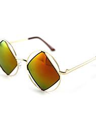 100% UV400 Resin Round Alloy Retro Sunglasses