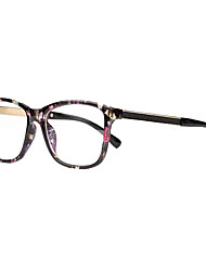 [Free Lenses] Plastic Square Full-Rim Fashion Prescription Eyeglasses