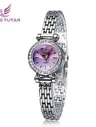yaqin® mujeres de la marca de lujo de relojes corazón de la manera rhinestone de línea de cuarzo banda de relojes (colores surtidos)