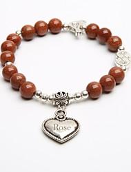 presente personalizado pulseiras vertente pedra natural bracelete de cristal