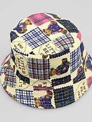 Elonbo Boy and Girl Cute Little Bear Korean Style Canvas Bucket Hat