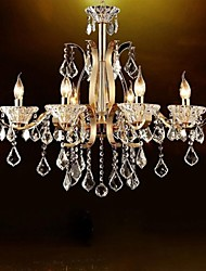 High-Grade Gold Wrought Iron  Crystal Chandelier 8 Lights