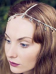 rue de la mode pression pentagone bijoux de cheveux en alliage d'argent (1pc)