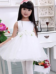 la mode robe de fleur sans manches col rond élégance mignon d'enfant morveux