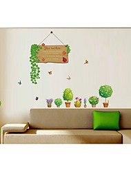 Wall Stickers Wall Decals, Style Green Plants PVC Wall Stickers