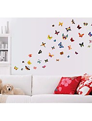 stickers muraux stickers muraux de style, la couleur papillon pvc stickers muraux