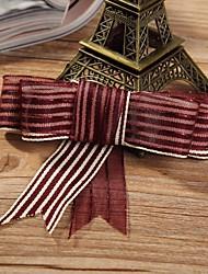 2M Gorgeous Satin and Gold Thread Organza Ribbon-Each One1M
