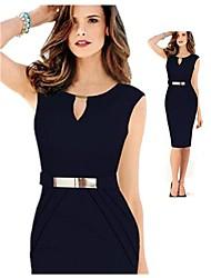 GZ&élégante robe col en V équipé de i femmes