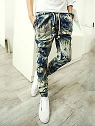 Men's Haren pants Ink Tie Dye Gradient Archaic Casual Pants Linen Trousers