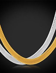 U7®Chunky Chain Necklace 18K Real Gold Plated Stainless Steel Choker Necklace