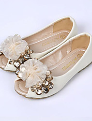 Ballerines ( Rose/Blanc ) - Cuir - Bout ouvert