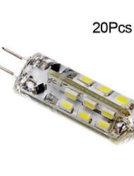2W G4 LED лампы типа Корн T 24 SMD 3014 150 lm Тёплый белый / Холодный белый DC 12 V 20 шт.