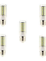 7W E26/E27 LED лампы типа Корн 69 SMD 5730 600 lm Естественный белый AC 220-240 V 5 шт.
