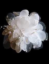 Women's Fabric Headpiece-Wedding / Special Occasion / Outdoor Flowers