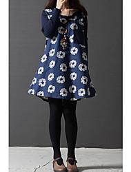 K.Dama Women's Vintage Floral Print Loose Fit Dress