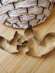 bande dessinée d'écureuil maman et la forme de fils biscuits, moules fuirt coupées, en acier inoxydable