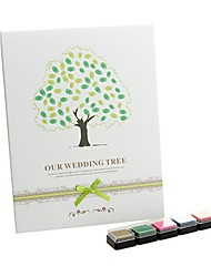 """Our Wedding Tree"" Fingerprint Signature Guestbook with 5 Colors Inkpad"