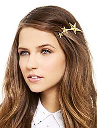 Shixin® Fashion Star Alloy Barrettes For Women (Golden) (1 Pc)