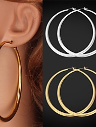 U7 Big 18K Gold Platinum Plated Circle  Hoop Earrings Basket Ball Wives Hoop Jewelry for Women High Quality