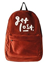 Unisex's Casual Fashion Corduroy Backpack Travel Soft Backpack School Bag